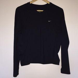 Nike medium long sleeve v-neck running shirt